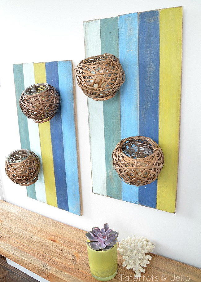 DIY Floral Wall Sconce For Spring And Summer Decor - Home ... on Hanging Wall Sconces For Flowers id=64901