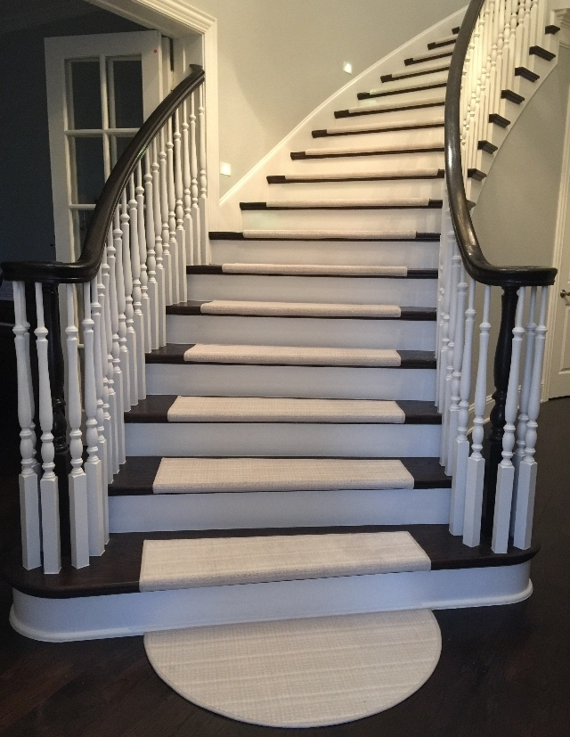 Curved Dark Stairs With Half Round – True Bullnose™ And True Flat | Half Round Stairs Design | Half Circle Staircase | Frame | Plan | Metal | Indian Style