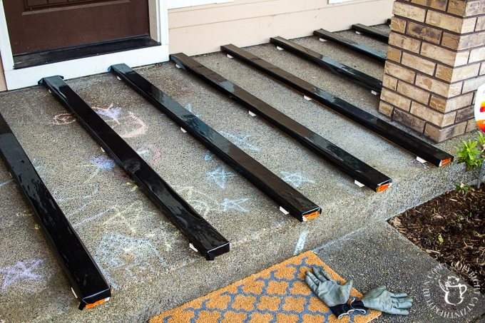 Diy Turning A Cement Porch Into A Wood Deck Catz In The Kitchen   Wood Over Concrete Steps   Building   Stair Stringers   Concrete Patio   Concrete Porch Makeover   Composite Decking