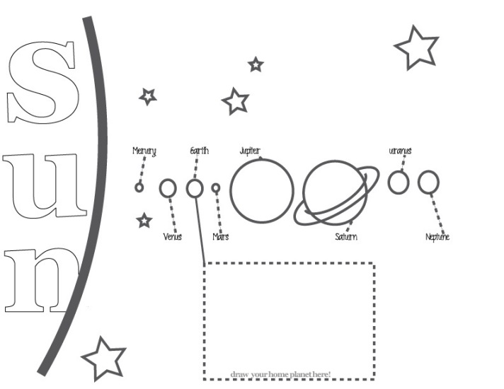 Printable Solar System Coloring Sheets for Kids!