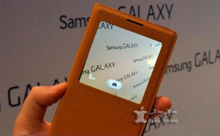 עבור Samsung Galaxy הערה 3 Note3 N9000 N9005 מקורי S להציג לישון תתעורר פונקציית Flip עור הכיסוי האחורי של הסוללה דיור מקרה