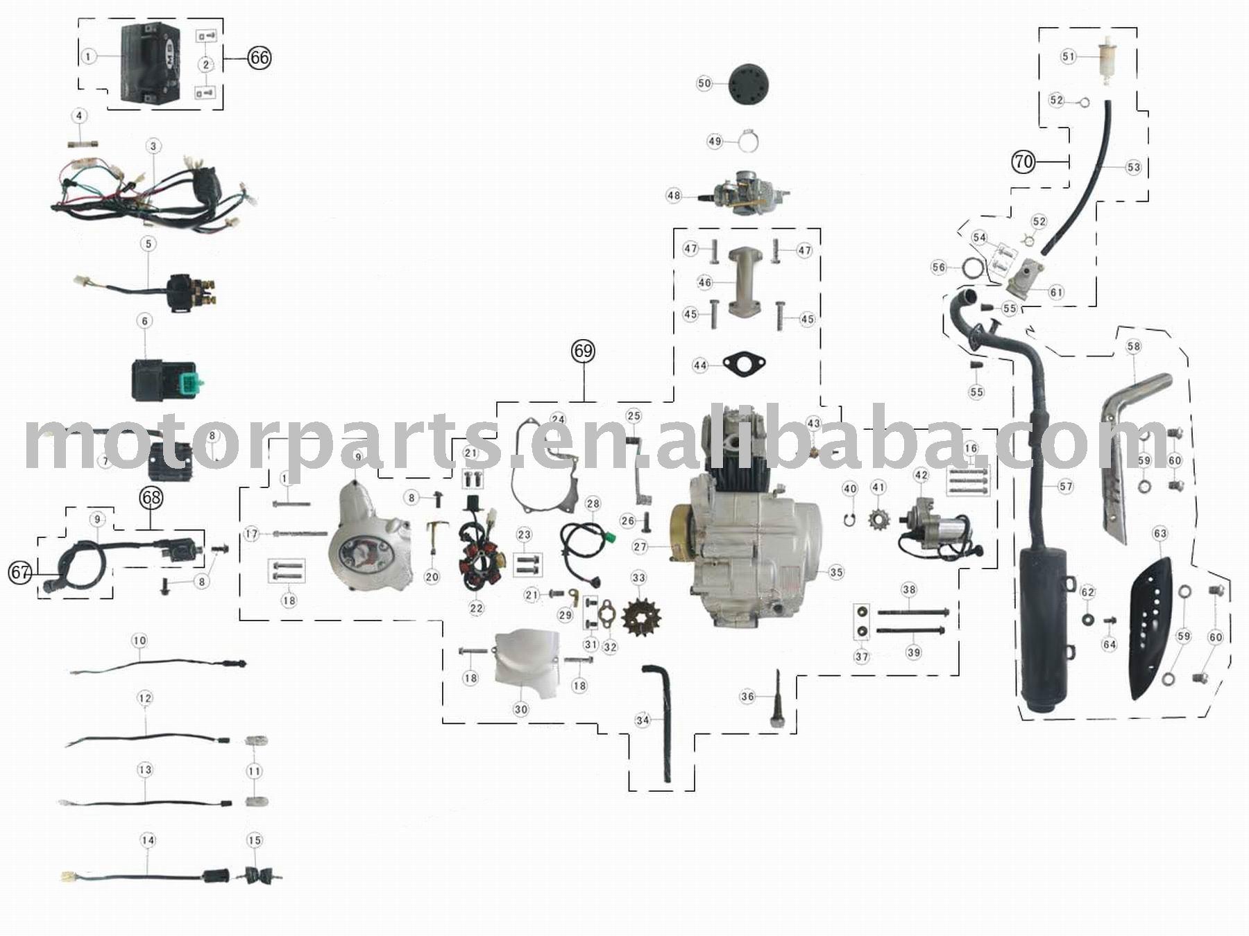 Pit Bike  26 Honda 50 2F70 Engine size besides 110 Quad Wiring Diagram additionally Ssr Dirt Bike Engine Diagram moreover Ssr 90 Wiring Diagram besides Dirt Bike Wire Diagram. on for ssr 110 atv wiring diagram