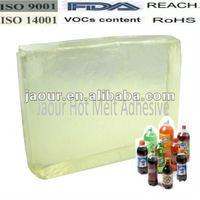 hot melt adhesive (block shape) for Coca -cola Material OPP Pearl Film Label