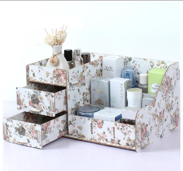 Storage box New 2014 Makeup Organizer boxes DIY Creative Drawer Wooden ...