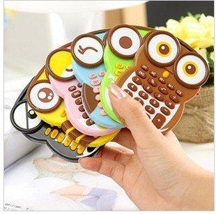 Cartoon Owl Calculator Office Stationery--(China (Mainland))
