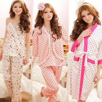 Classic hot-selling ! silk sleepwear sexy nightgown robe twinset lounge female spaghetti strap pajama pants shortie robe