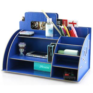 wood-desktop-storage-rack-cosmetic-shelf-storage-box-block-notes-DIY ...