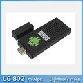 UG802 TV BOX Mini PC android4.0.4 Dual Core 1.6GHz RK3066 Cortex-A9 Çift Çubuk IPTV HDD Player