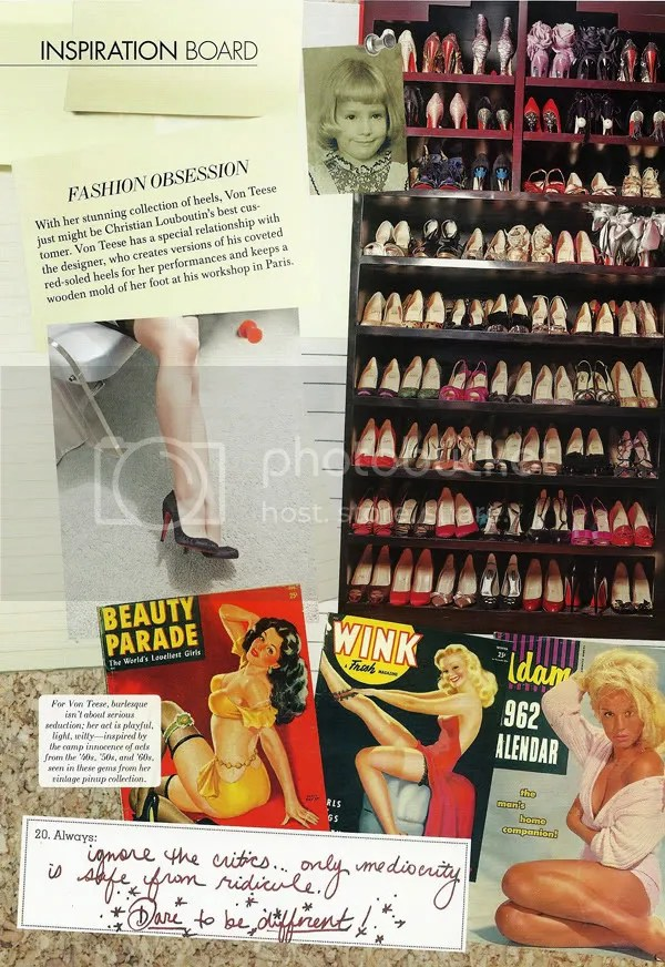 Dita Vont Teese's Shoes