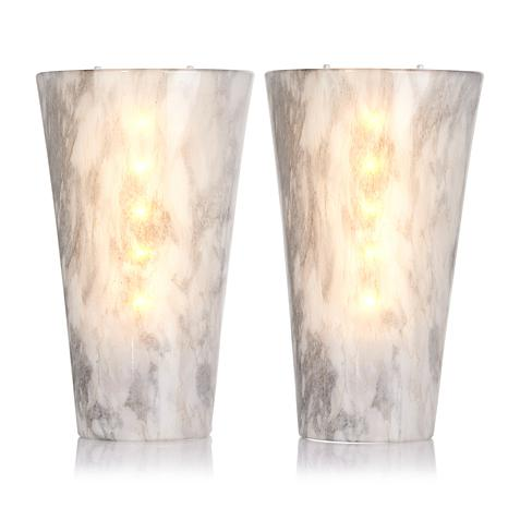 It's Exciting Lighting 2-pack Battery-Powered LED Wall ... on Battery Powered Wall Sconces id=91844