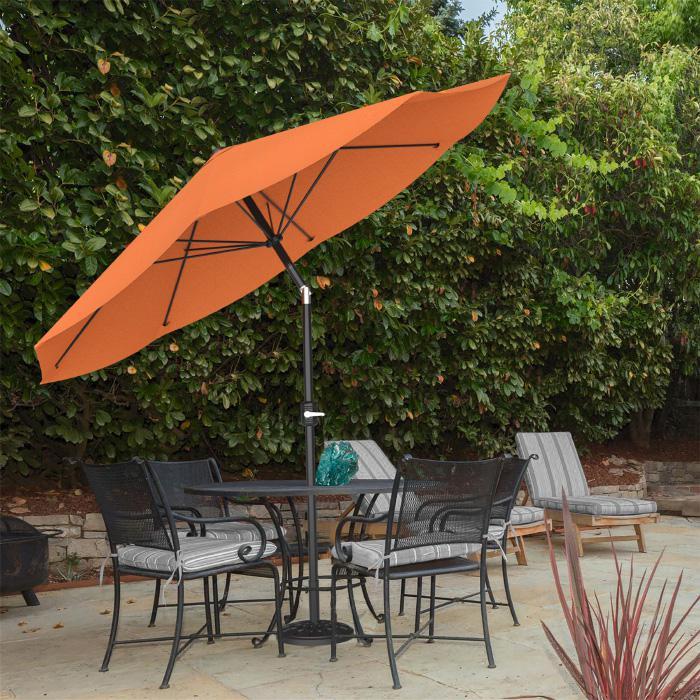 10 auto tilt patio umbrella with easy crank terracotta