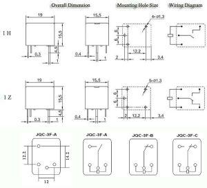 T73 Jqc3f Pcb Relay 12v 7a 5pin Sugar Cube Relay  Buy