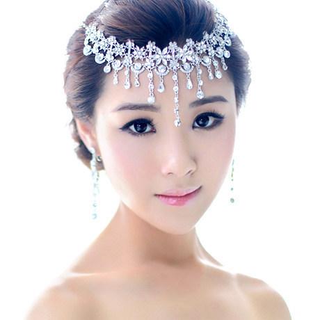 free shipping bling shining rhinestone arabic bridal hair crown tiara hair wedding jewelry