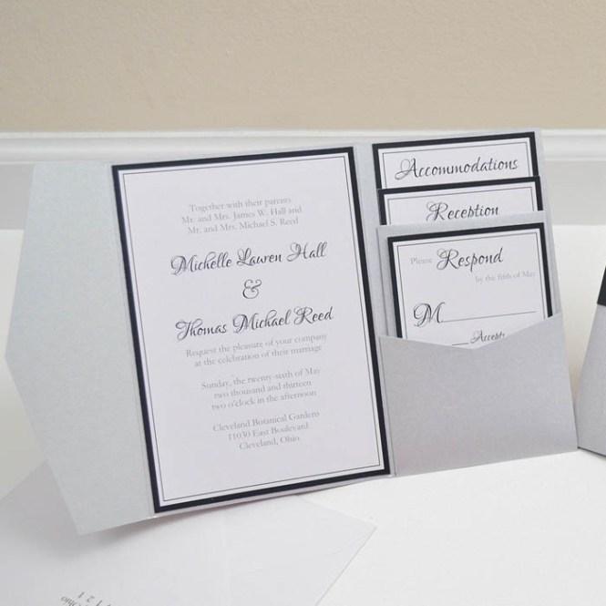 Pocket Envelopes For Wedding Invitations – Pocket Cards for Invitations