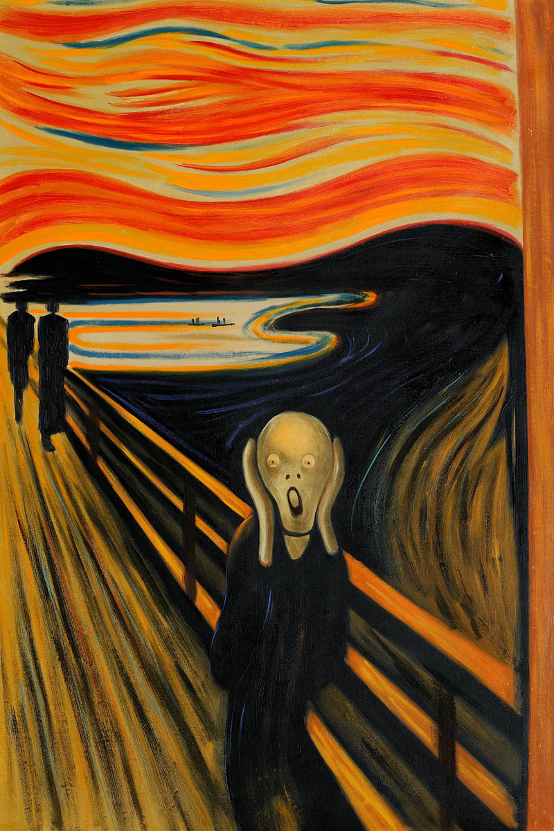 Image result for images of munch's scream painting
