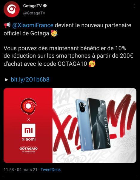 Xiaomi signe avec Gotaga