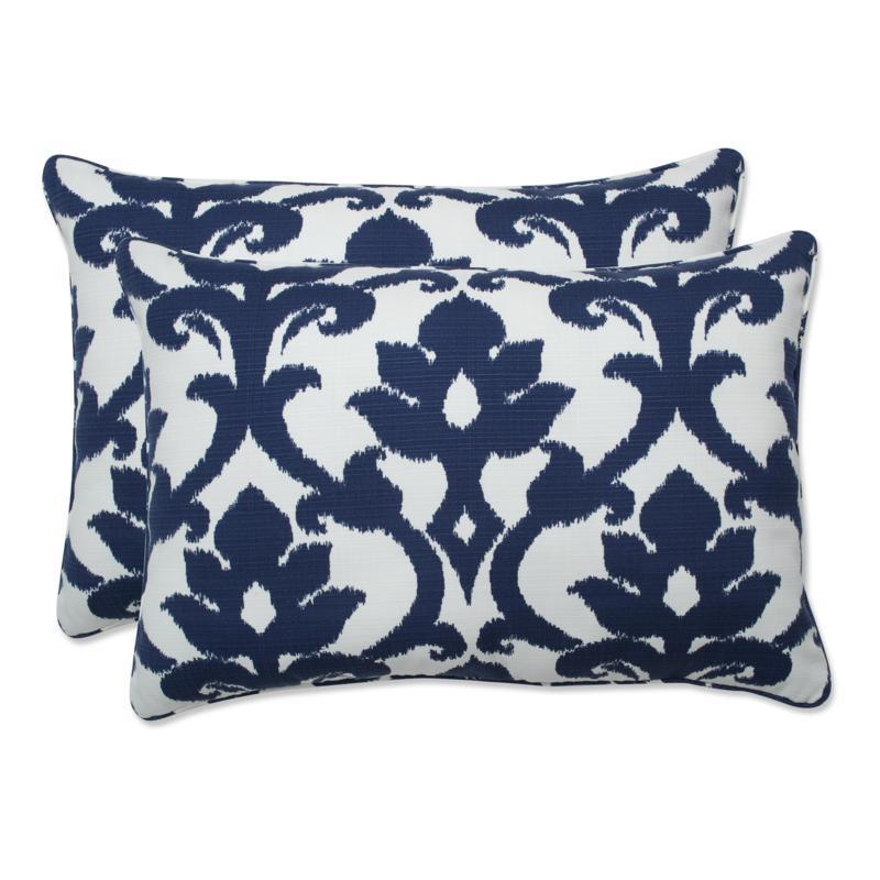 pillow perfect set of 2 outdoor bosco rectangular throw pillows navy