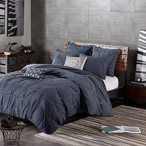 ink ivy masie cotton 3pc comforter mini set navy king cal king