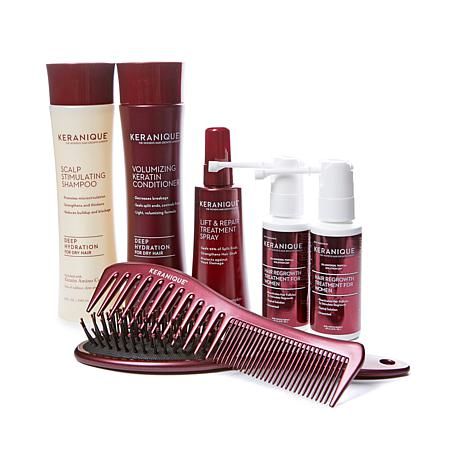keranique 60 day regrowth kit with detangling b brush auto ship pause