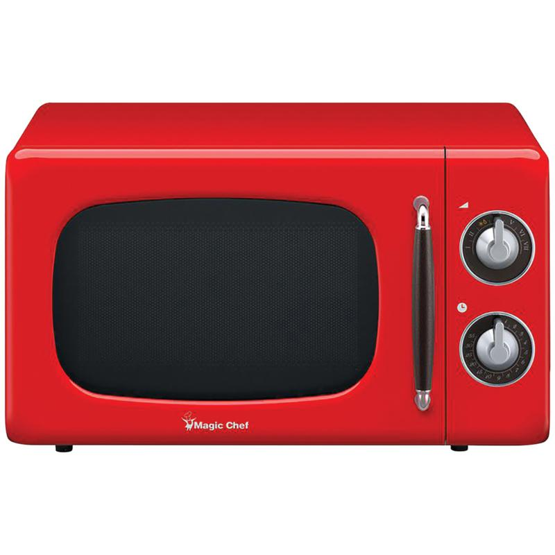 magic chef mcd770cr 7 cu ft 700 watt retro microwave red