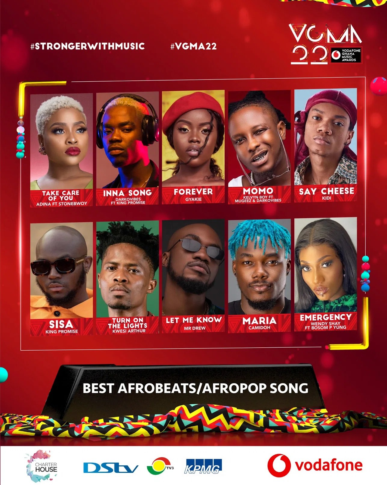 20210403 120949 Chartered House Has Released The Nominees List Of The 22nd Edition Of VGMA Awards