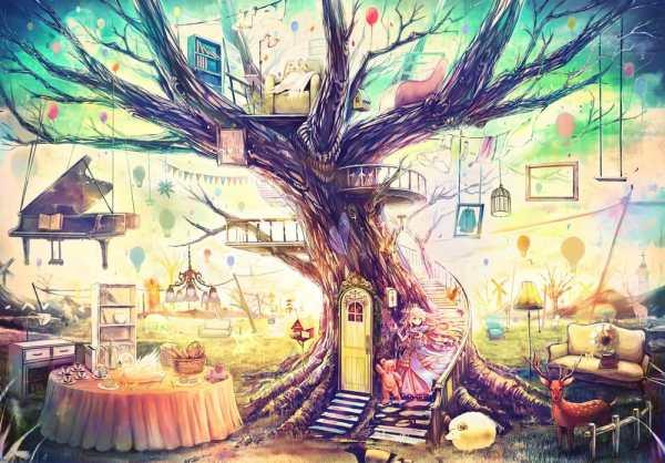 Обои на рабочий стол: фен-шуй, аниме, Сказочный мир, игрушки