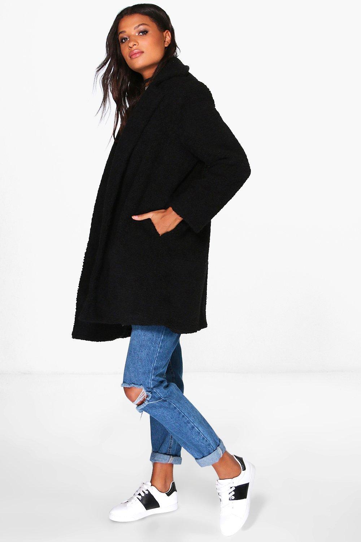 boutique manteau en fourrure peluche a enfiler boohoo