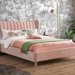 Knox Velvet Finish Upholstered Bed Frame Id251 00279