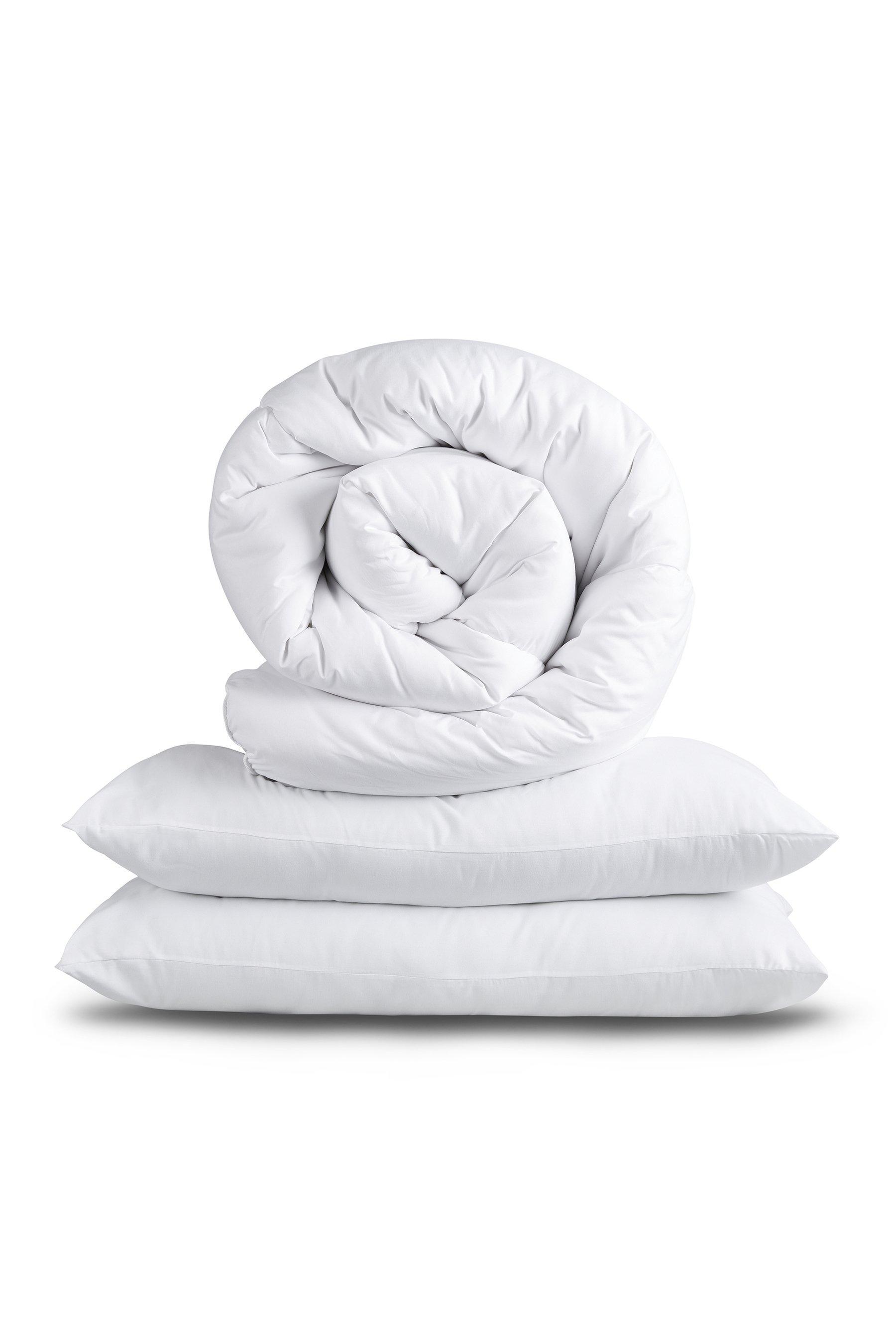 slumberdown climate control 10 5 tog duvet and 2 pillows