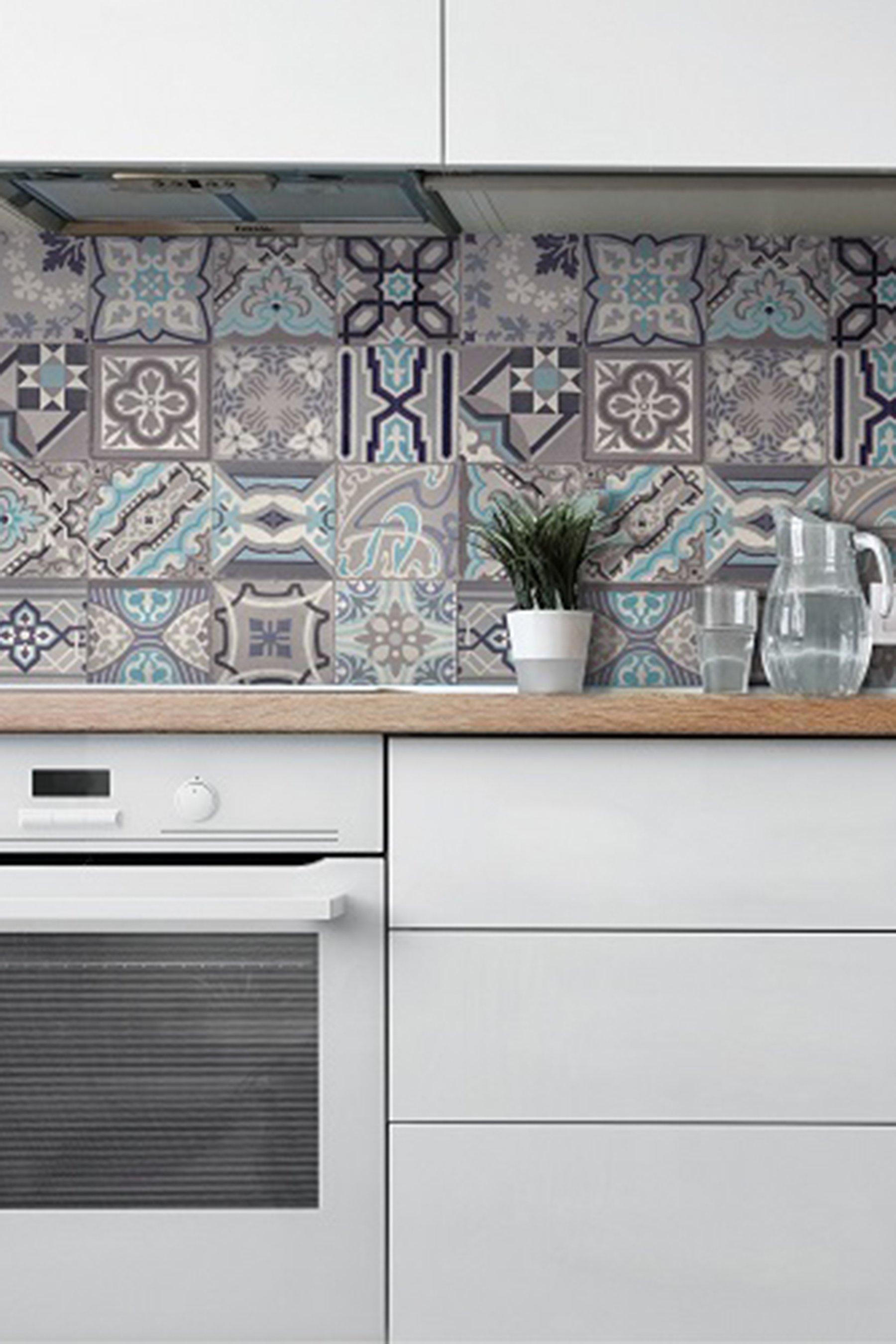 d c fix 3d wallpaper for splashbacks moroccan tile simenta grey