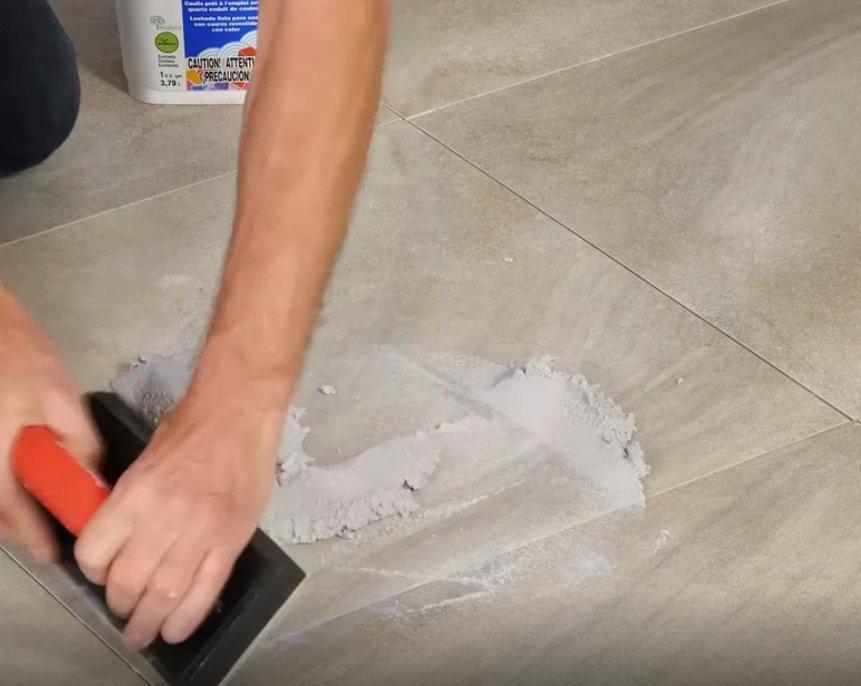 install large format tile