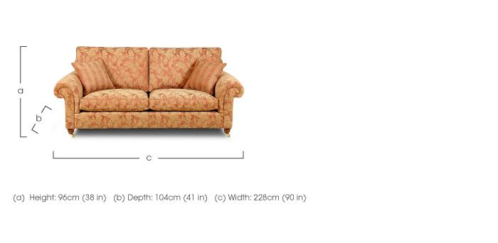 hamilton 3 seater fabric sofa duresta