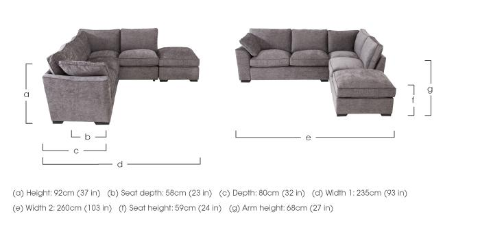 alexandra small corner sofa with