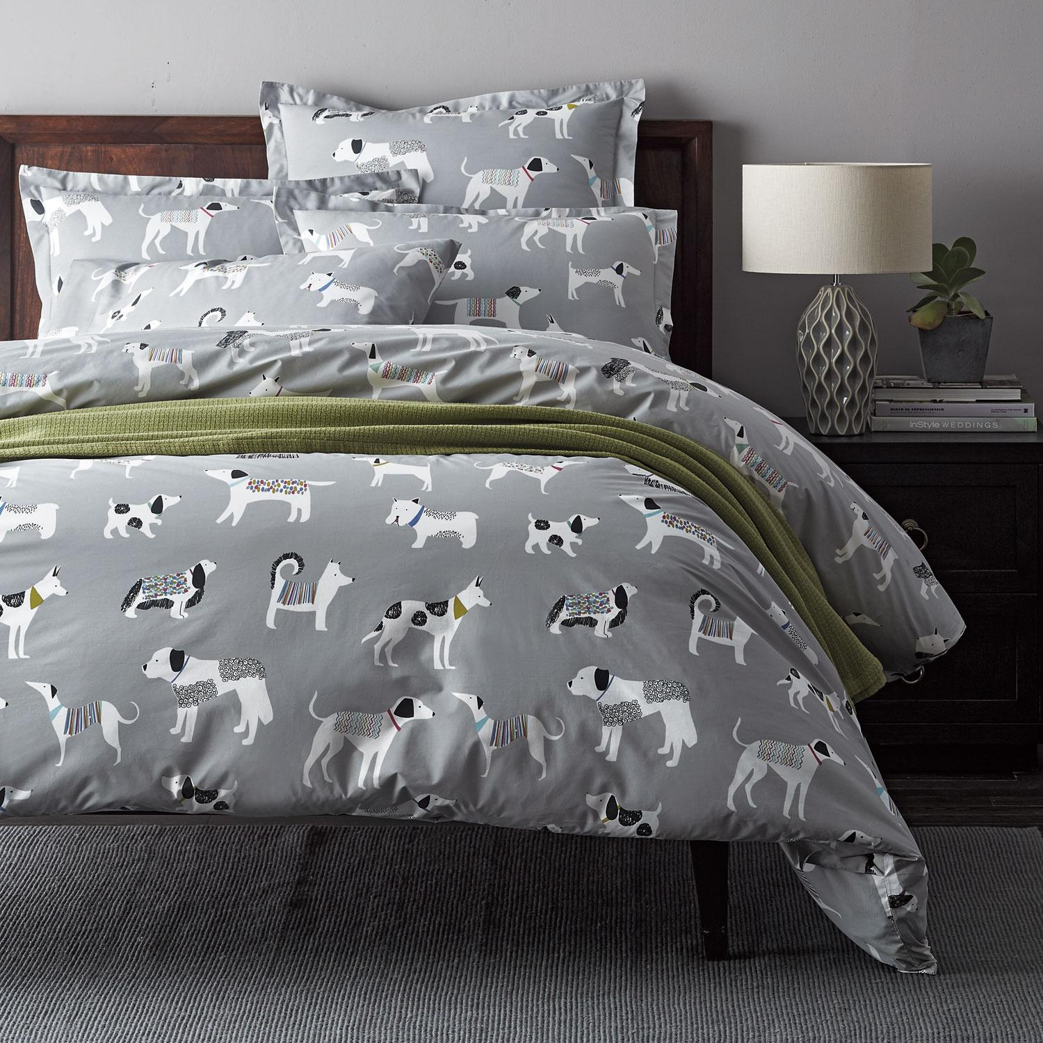 Dog Days Percale Duvet Cover The Company Store