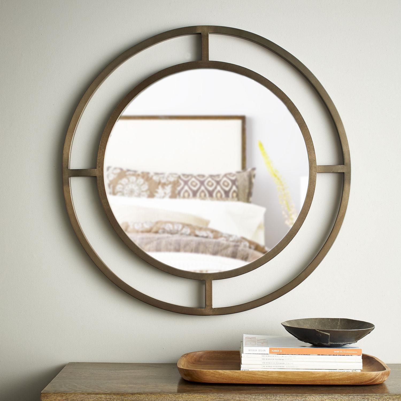 Windowpane Round Wall Mirror The Company Store