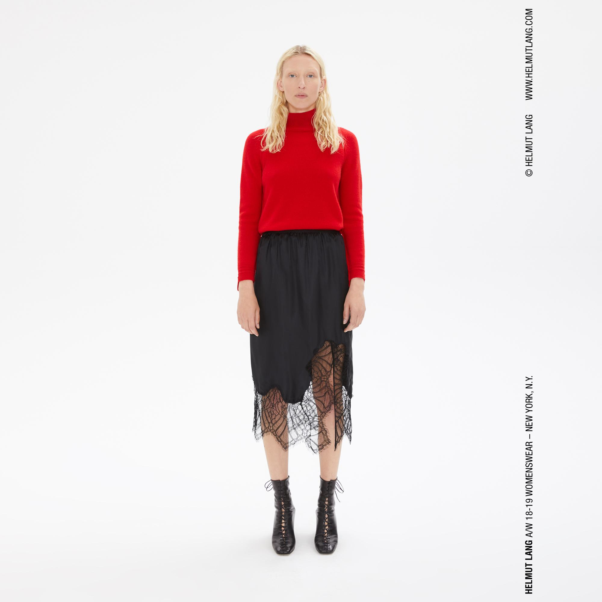 Helmut Lang Skirts   Shorts   Official site LACE SLIP SKIRT