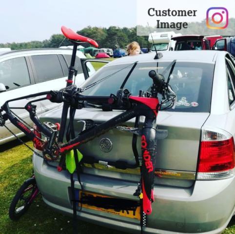 halfords rear low mount 2 bike bike rack