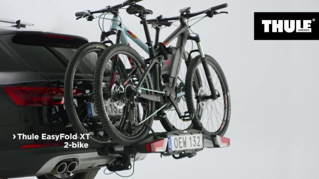 thule easyfold xt 2 bike towbar mounted bike rack