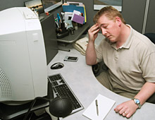 Older CRT monitors can cause computer vision syndrome.