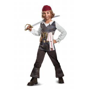 Captain Jack Sparrow Classic Costume for Boys
