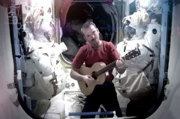 Astronaut Chris Hadfield who recorded Bowies Space Oddity