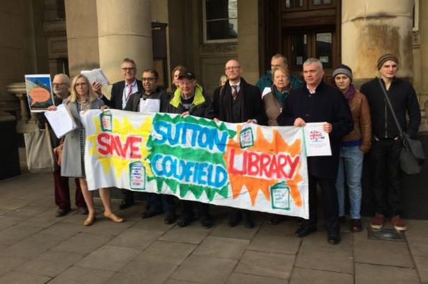 The Library Lobby protest against the proposed closure of Sutton Coldfield Library