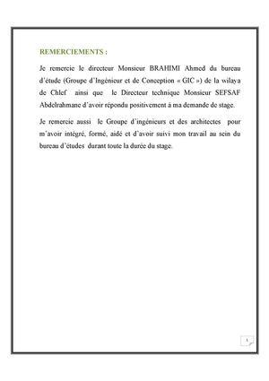 Calamo Rapport De Stage Bureau Dtude