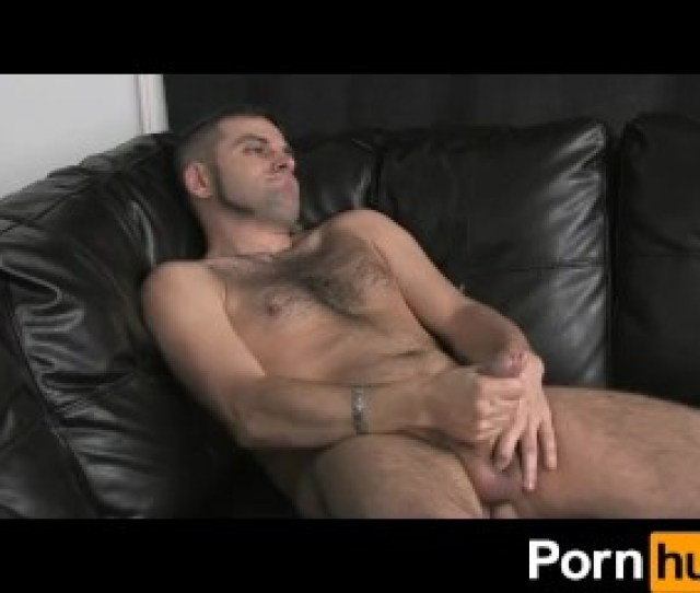 Hairy Dude Jercking His Cock Off In Front Of Camera All Naked