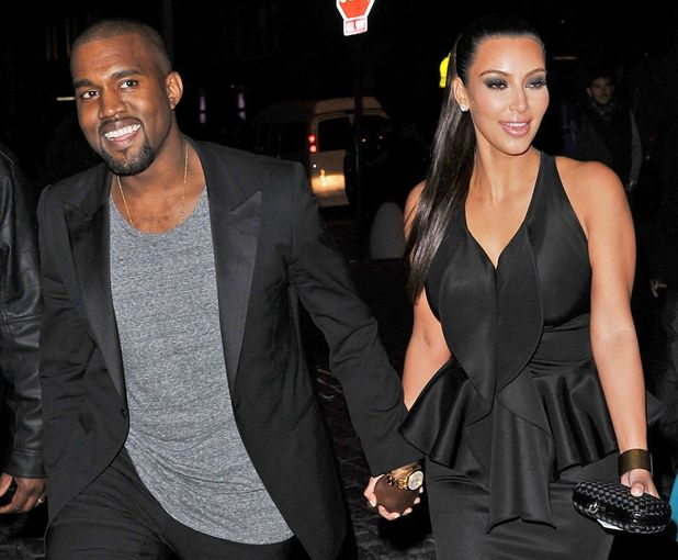 Kim Kardashian and Kanye West hold hands on night out