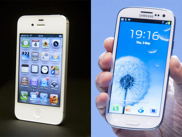 iPhone 4S and Samsung Galaxy SIII
