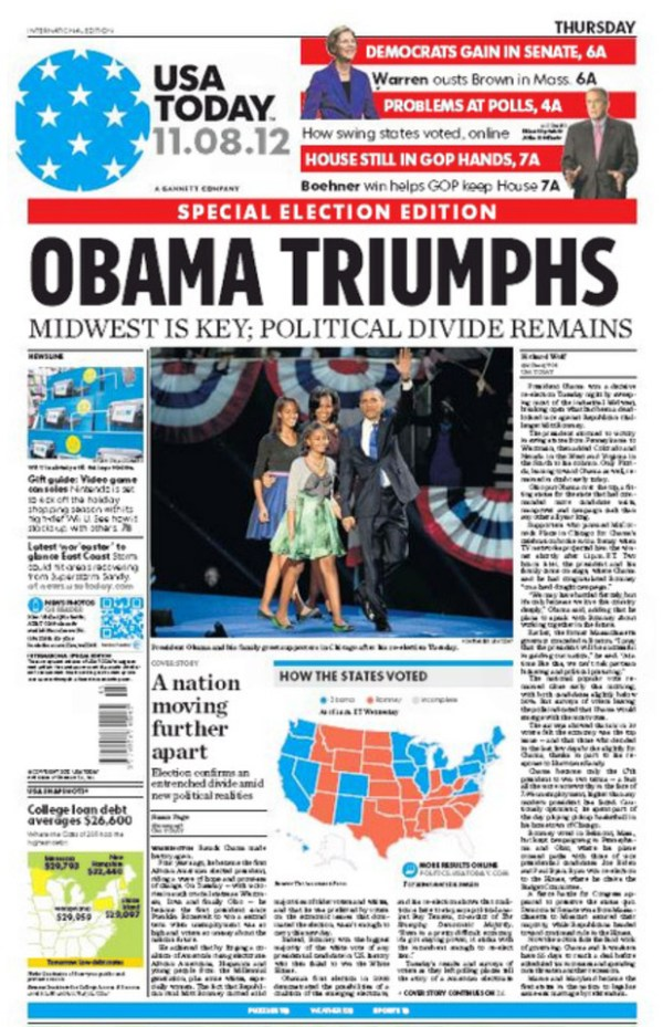 Usa Today Newspaper Front Page - www.proteckmachinery.com
