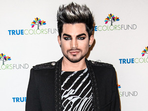 Adam Lambert arrives for Cyndi Lauper and Friends: Home For The Holiday's Concert.