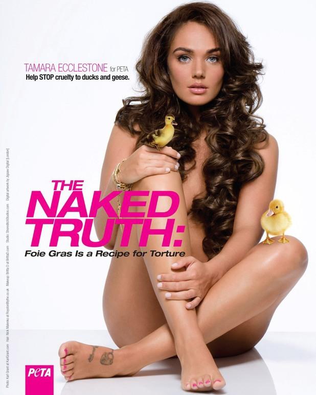 Tamara Ecclestone's nude PETA campaign poster