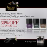 butter LONDON Friends & Family Event – 30% OFF!
